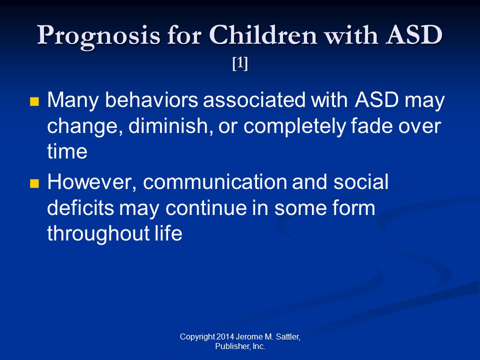 Prognosis for Children with ASD [1]